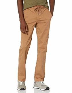 "Goodthreads Athletic-Fit Washed Chino Drawstring Pant Unterhose, British Khaki, Small/30"" Inseam von Goodthreads"