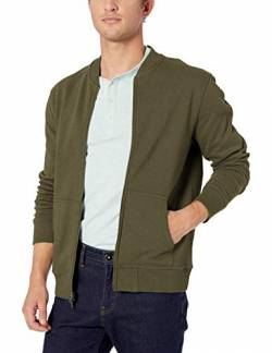 Amazon-Marke: Goodthreads Herren Fleece-Bomber, Olive, US L Tall (EU L) von Goodthreads