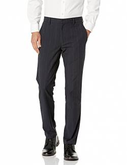 Goodthreads Slim-Fit Stretch Dress Chino Pantaloni, Grigio (Navy Pinstripe), 34W x 30L von Goodthreads