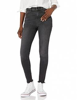 Goodthreads High-Rise Skinny Jeans, Cropped Fray Vintage Black, 28 Short von Goodthreads