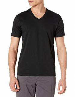 Goodthreads Short-Sleeve V-Neck Cotton T-Shirt, black, Small von Goodthreads