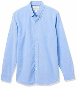 Goodthreads Slim-Fit Long-Sleeve Solid Oxford Shirt Hemd, Blue, Medium Tall von Goodthreads