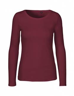 Green Cat- Damen Langarmshirt, 100% Bio-Baumwolle. Fairtrade, Oeko-Tex und Ecolabel Zertifiziert, Textilfarbe: Bordeaux, Gr. XS von Green Cat