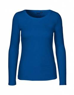 Green Cat- Damen Langarmshirt, 100% Bio-Baumwolle. Fairtrade, Oeko-Tex und Ecolabel Zertifiziert, Textilfarbe: blau, Gr. XL von Green Cat