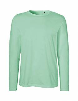Green Cat Herren Langarm T-Shirt, 100% Bio-Baumwolle. Fairtrade, Oeko-Tex und Ecolabel Zertifiziert, Textilfarbe: Mint, Gr.: XXXL von Green Cat