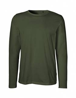 Green Cat- Herren Langarm T-Shirt, 100% Bio-Baumwolle. Fairtrade, Oeko-Tex und Ecolabel Zertifiziert, Textilfarbe: Oliv, Gr.: XL von Green Cat