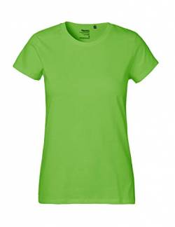 Green Cat Ladies Classic T-Shirt, 100% Bio-Baumwolle. Fairtrade, Oeko-Tex und Ecolabel Zertifiziert, Textilfarbe: Limette, Gr.: S von Green Cat