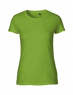 Green Cat Ladies Fitted T-Shirt, 100% Bio-Baumwolle. Fairtrade, Oeko-Tex und Ecolabel Zertifiziert, Textilfarbe: Limette, Gr.: S von Green Cat