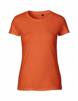 Green Cat Ladies Fitted T-Shirt, 100% Bio-Baumwolle. Fairtrade, Oeko-Tex und Ecolabel Zertifiziert, Textilfarbe: orange, Gr.: M von Green Cat