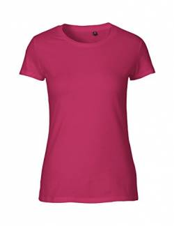 Green Cat Ladies Fitted T-Shirt, 100% Bio-Baumwolle. Fairtrade, Oeko-Tex und Ecolabel Zertifiziert, Textilfarbe: pink, Gr.: XS von Green Cat