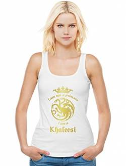 Game I'm Not A Princess I'm A Khaleesi Thrones Damen Weiß Small Tank Top von Green Turtle T-Shirts