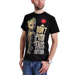 Guardians of the Galaxy 2 - Groot - Button T-Shirt schwarz S von Guardians of the Galaxy