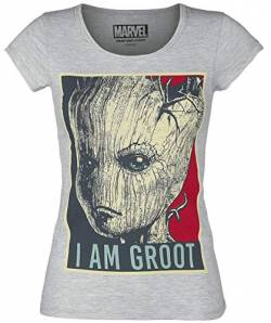Guardians of the Galaxy I Am Groot T-Shirt grau meliert M von Guardians of the Galaxy