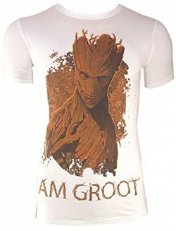 T-Shirt I AM GROOT, weiß (L) von Guardians of the Galaxy