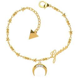 Guess Damen-Armband SMALL Chain Moon Edelstahl One Size Gold 32011723 von Guess
