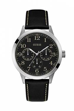 Guess Watches Men's Leather -Silver Watch von Guess