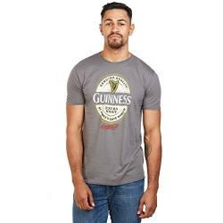 Guinness Herren Label T-Shirt, Charcoal, Large von Guinness