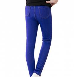 Guiran Kinder Warme Leggings Mädchen Leggins Hose Slim Fit Jeggings Legins Hosen Dunkelblau 150CM von Guiran