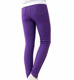 Guiran Kinder Warme Leggings Mädchen Leggins Hose Slim Fit Jeggings Legins Hosen Lila 150CM von Guiran
