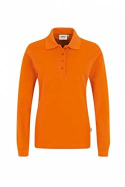 Women-Longsleeve-Poloshirt Performance, Orange, XXL von HAKRO