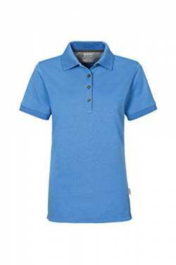 Women-Poloshirt Cotton-Tec, HK214-malibu-blue, 2XL von HAKRO