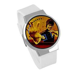 Jungen Digitaluhren,Touch Screen LED Uhr Bruce Lee Um Wasserdichtes Leuchtendes Kreatives Geburtstagsgeschenk Der Elektronischen Uhr DIY,C von HAOKTSB