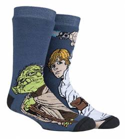HEAT HOLDERS - Herren Thermo Winter Star Wars Socken mit Antirutsch ABS Sohle (39/45, Luke/Yoda) von HEAT HOLDERS
