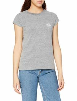 Amazon-Marke: Hikaro Damen T-Shirt mit rundem Ausschnitt, Grau (Light Grey), 40, Label:L von HIKARO