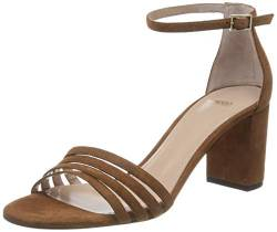 HUGO Damen April Sandal 60-S Riemchensandalen, Braun (Rust/Copper 228), 38 EU von HUGO