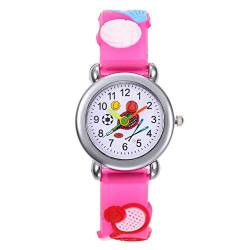 HaIfeng Kinder Uhr Cartoon Baseball Tennis Fußball Kinder Uhren Sport-Quarz-Kind-Uhr for Jungen-Mädchen-Kind-Geschenk-Uhr Präzise Bewegung (Color : Tennis Rose) von HaIfeng
