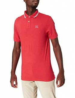 Hackett London Herren Poloshirt HKT Pique SS, Rot (Crimson 289), X-Large (Herstellergröße: XL) von HKT by Hackett