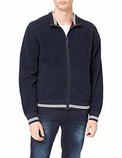 Hackett London Herren Sweatshirt HKT Blouson, Blau (Ink 591), Medium (Herstellergröße: M) von HKT by Hackett