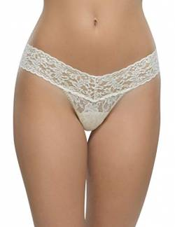 Hanky Panky String 'Low Rise Thong', one-size-fits-all, elfenbein one size von Hanky Panky