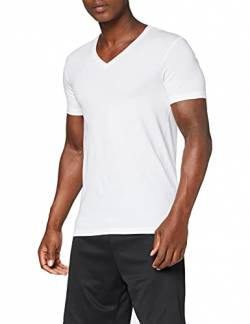 HANRO Herren V-Shirt 1/2 Arm Cotton Superior (0101 white), Gr. S von Hanro