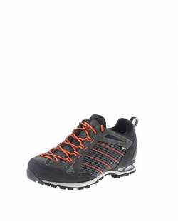 Hanwag Makra Low GTX Men Größe UK 10,5 Asphalt/orange von Hanwag