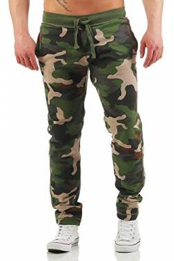 Happy Clothing Herren Camouflage Jogginghose Army Woodland Sweathose, Größe:S, Farbe:Camouflage von Happy Clothing