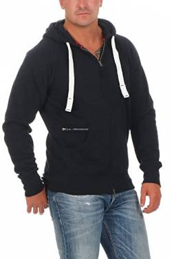 Happy Clothing Herren Kapuzenjacke mit Zip, Dunkelblau, S von Happy Clothing
