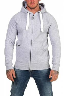Happy Clothing Herren Kapuzenjacke mit Zip, Grau Meliert, 5XL von Happy Clothing