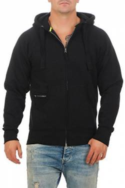 Happy Clothing Herren Kapuzenjacke mit Zip, Schwarz, M von Happy Clothing