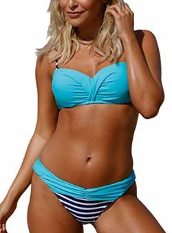 Happy Sailed Damen Sexy Bikini Set Two Pieces Sling Bademode Swimsuit Strandmode Bikini Badeanzug S-XXL von Happy Sailed