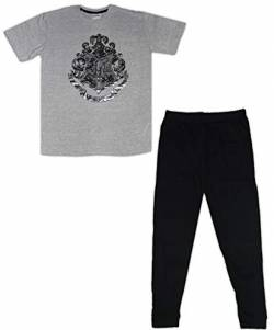Harry Potter Herren Jungen Pyjama Set Baumwolle (Grau, Large) von Harry Potter