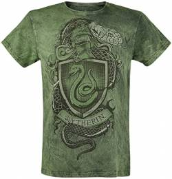 Harry Potter Slytherin - The Snake Männer T-Shirt grün XL von Harry Potter