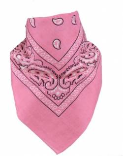 Harrys-Collection Unisex Bandana Bindetuch 100% Baumwolle (1 er 6 er oder 12 er Pack), Farbe:rosa von Harrys-Collection