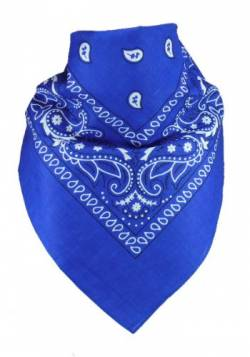 Harrys-Collection Unisex Bandana Bindetuch 100% Baumwolle (1 er 6 er oder 12 er Pack), Farbe:royalblau von Harrys-Collection