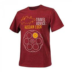 Helikon-Tex T-Shirt (Travel Advice: Russian Luck) - Melange Red von Helikon-Tex