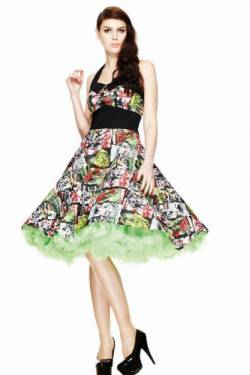 Hell Bunny B-MOVIE 50'S DRESS 4141 black-multi (S) von Hell Bunny