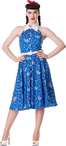 Hell Bunny Kleid Calamity 50'S Dress Blue M von Hell Bunny