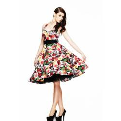 Hell Bunny Kleid Mexico 50'S Dress Black-Multi L von Hell Bunny