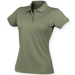 Henbury Damen Coolplus® Polo-Shirt / Polohemd, (Large) (Olive) von Henbury