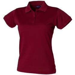 Henbury Damen Coolplus® Polo-Shirt / Polohemd, (Medium) (Burgunder) von Henbury